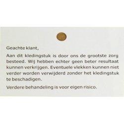 Vlekkenbriefjes standaard 'Geachte klant'